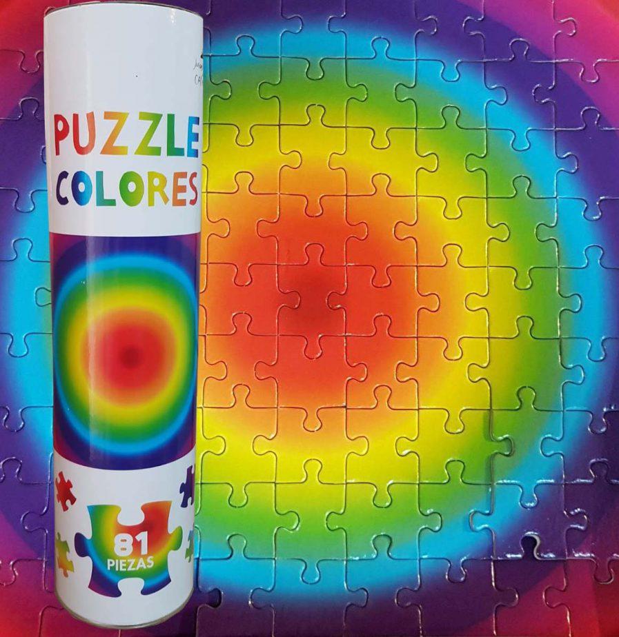 Puzzle cromático 81 piezas