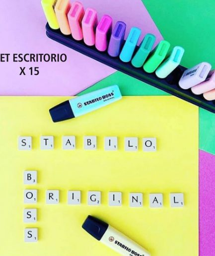 Stabilo set escritorio boss x 15
